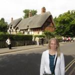 Gwen at Stratford-Upon-Avon