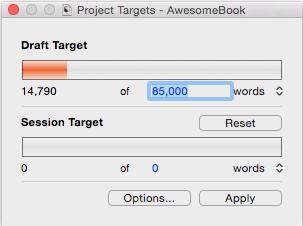Setting targets (Mac)