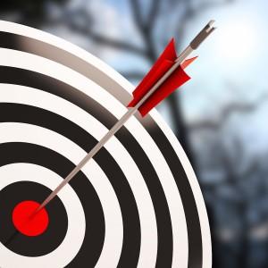 arrow in target bullseye