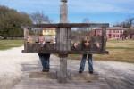 Boys in stocks in Colonial Williamsburg