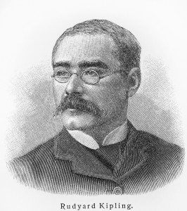 drawing of Rudyard Kipling
