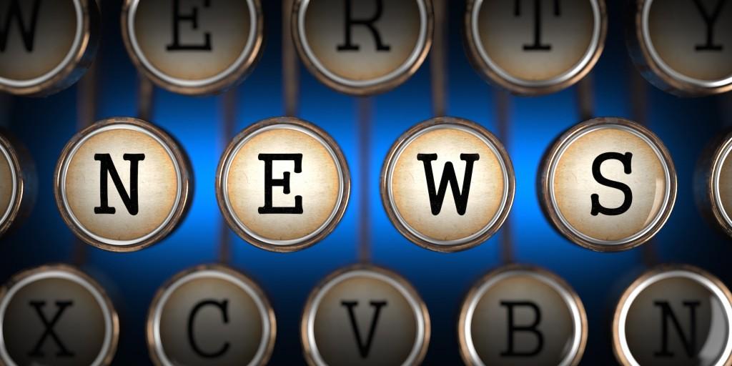 NEWS on typewriter keyboard
